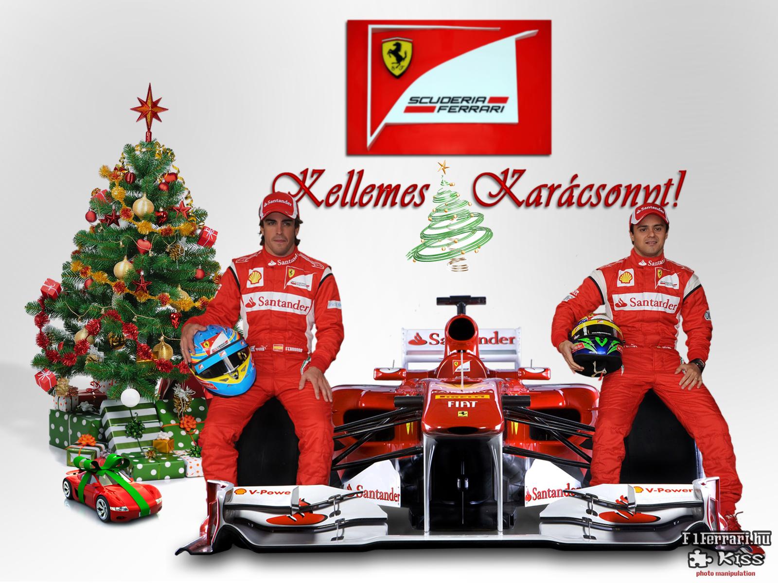 Kellemes kar csonyi nnepeket aj nd k falinapt rral s for Ferrari christmas